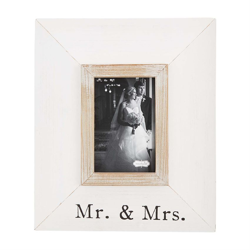 Small Mr. & Mrs. Mitered Wood Frame