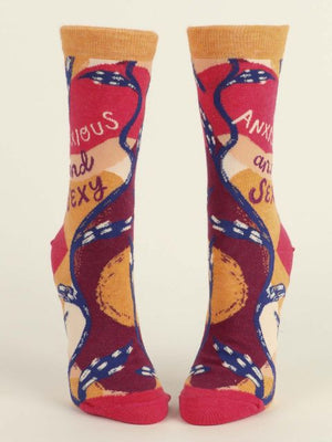 ANXIOUS AND SEXY WOMEN'S CREW SOCKS