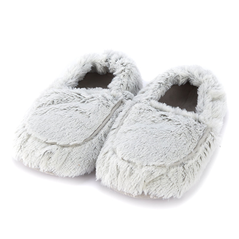 Marshmallow Grey Warmies Slippers