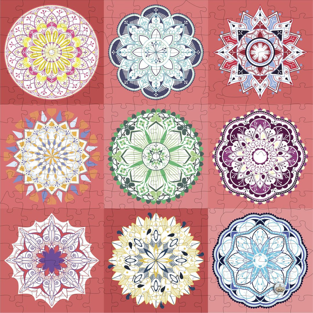 9 Mandalas Wooden Puzzle- 250 pieces
