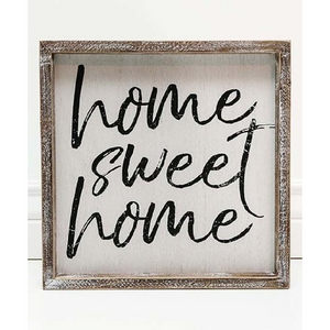 HOME SWEET HOME FRAMED SIGN