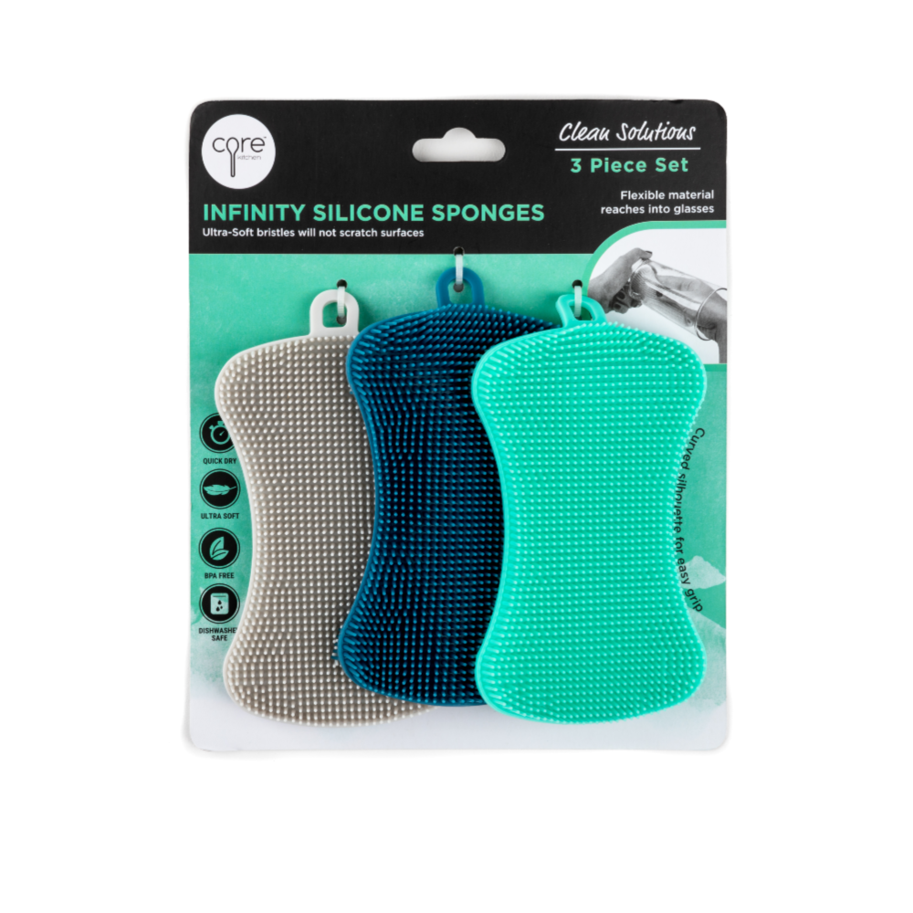 Set of 3 Infinity Silicone Sponges