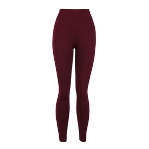 Burgundy Fleece Lined Leggings