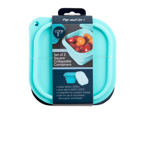 Set/2 Square Collapsible Food Containers
