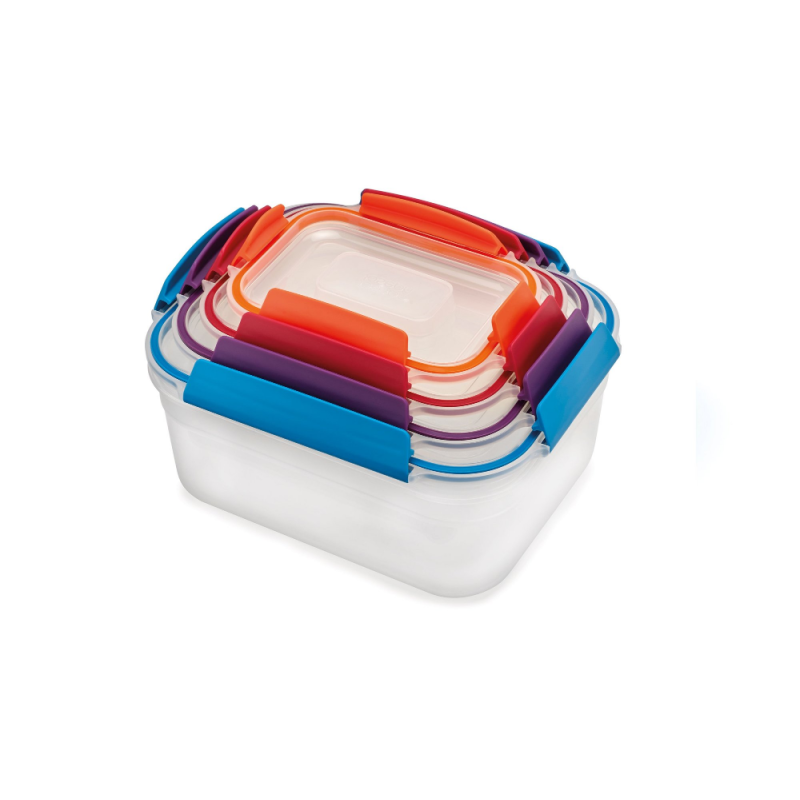 Nest Lock 8-Peice Multi-Size Container Set- Multi-Color