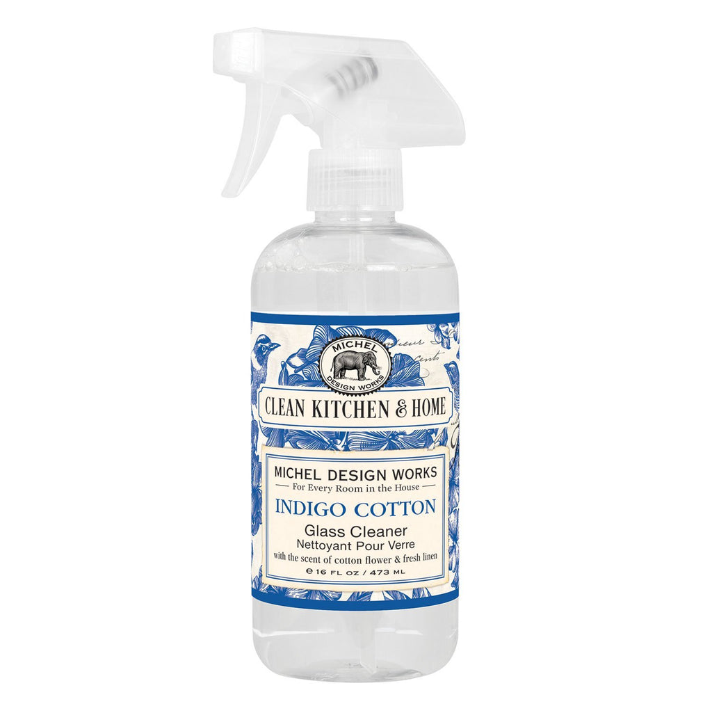 INDIGO COTTON KITCHEN GLASS CLEANER