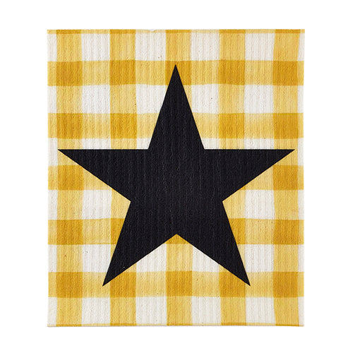 ORGANIC DISHCLOTH - YELLOW BUFFALO CHECK