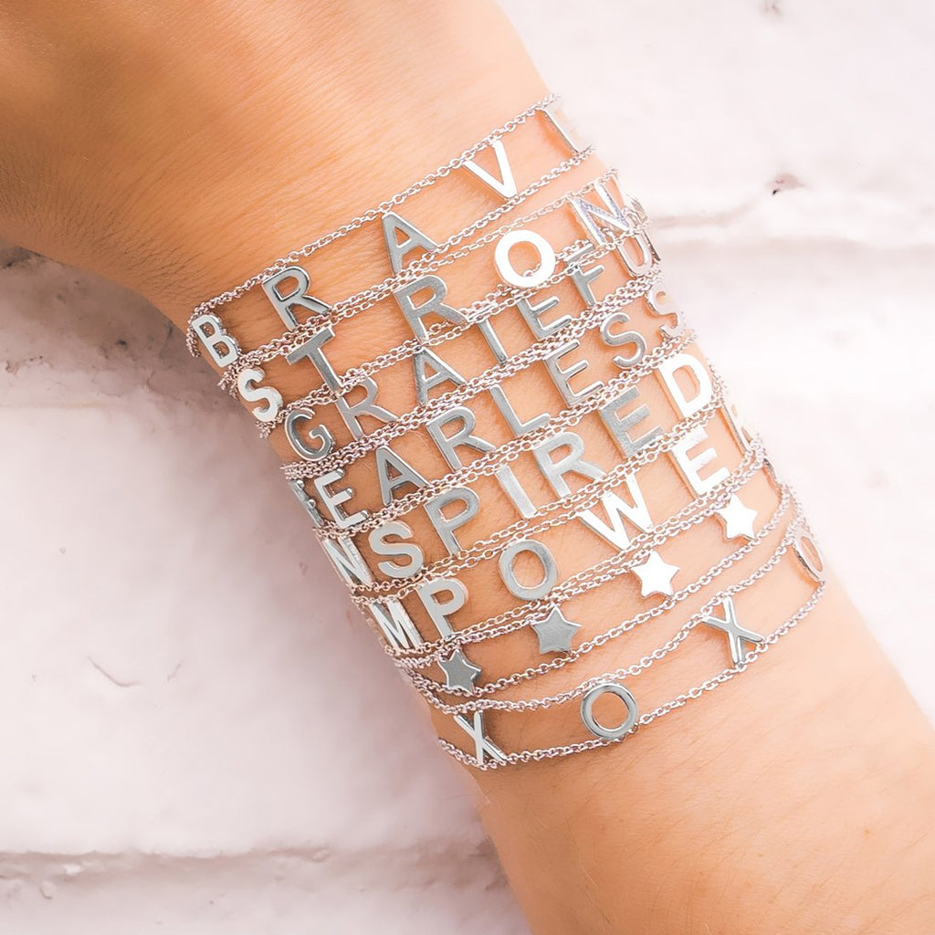 FEARLESS Empowered Bracelet- White