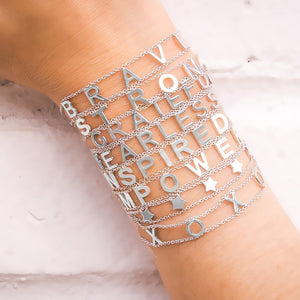 5 STARS SYMBOLS Empowered Bracelet- White