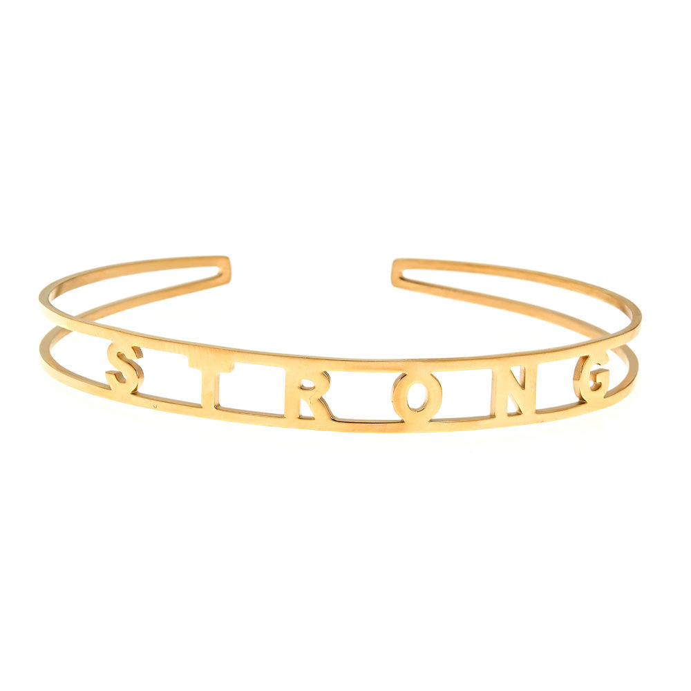 STRONG Brass Cuff Bracelet- Yellow