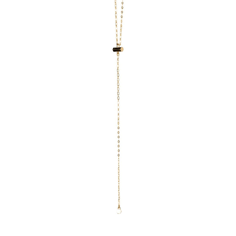 LARIAT HEXAGON NECKLACE