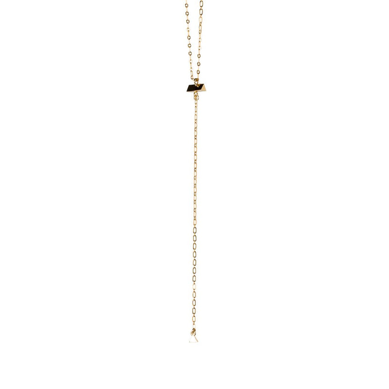 LARIAT TRIANGLE NECKLACE