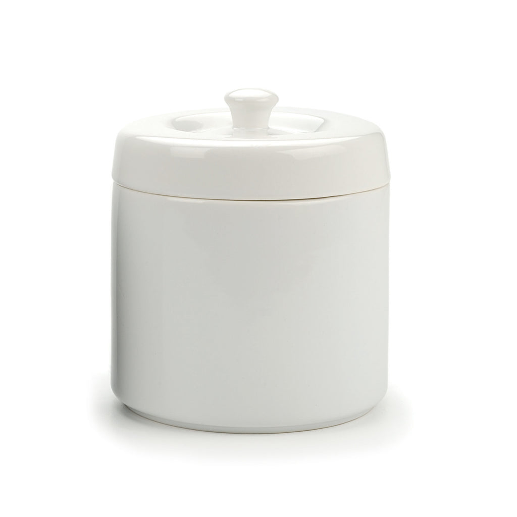 White Stoneware Grease Keeper