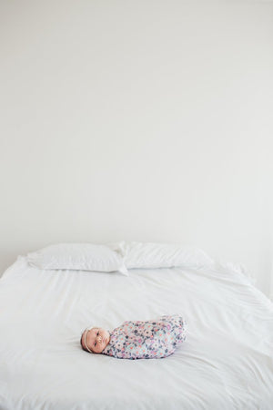 MORGAN KNIT SWADDLE BLANKET