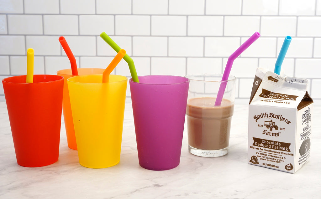 Short Silicone Straws Set of 6