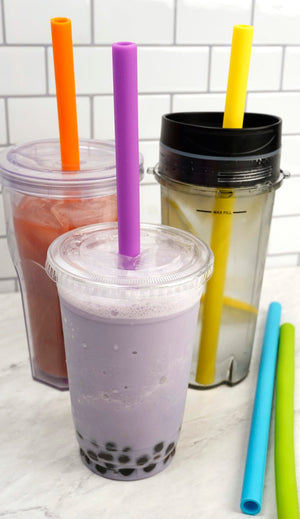 Silicone Smoothie Straws Set of 6