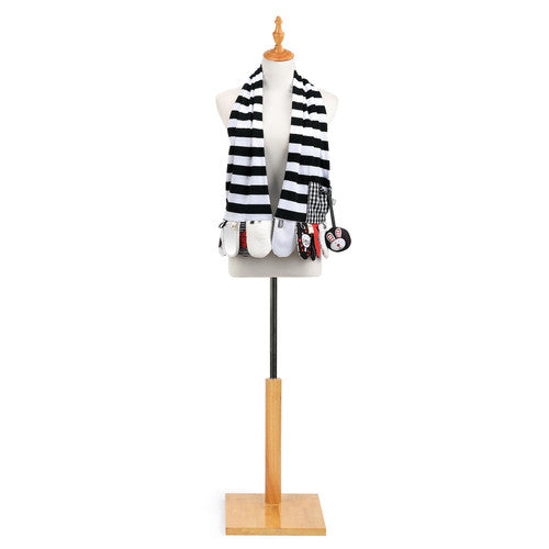 Mommy & Me Activity Scarf - Black and White