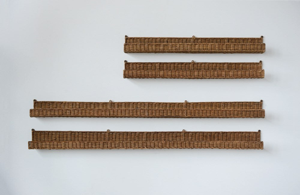 Hand-Woven Rattan Wall Shelf *Store Pick Up Only*