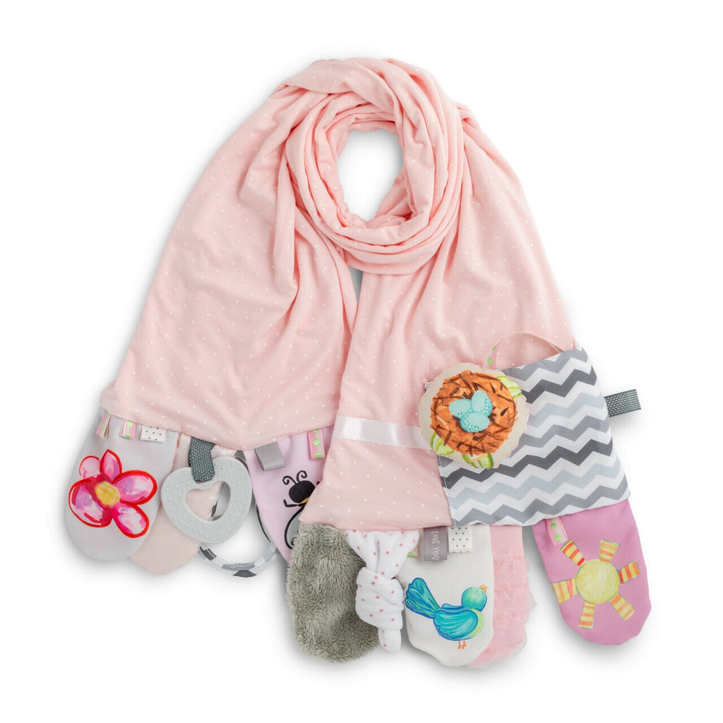 Mommy & Me Activity Scarf- Pink