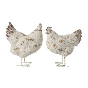 Distressed Resin Hen