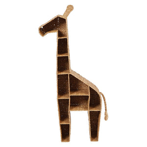 Hand-Woven Bankuan & Metal Giraffe Shelf *Store Pick Up Only*