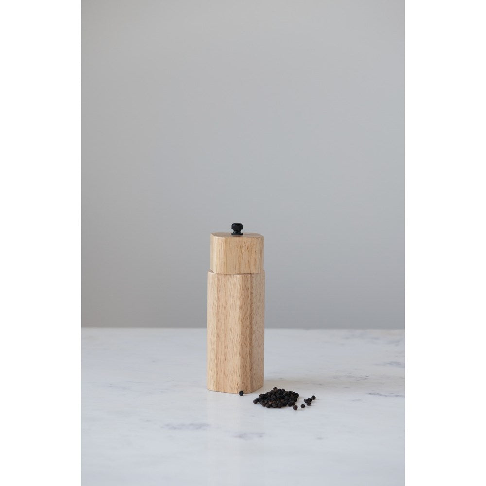 Rubber Wood Salt/Pepper Mill