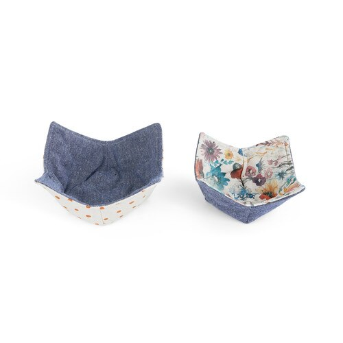 Meadow Flowers Microwavable Pot Holder Bowl- Set of 2