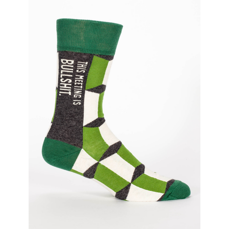 MEETING IS BS MENS CREW SOCKS