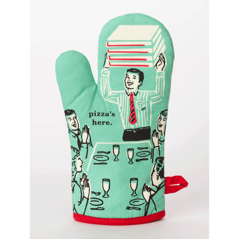 PIZZA'S HERE OVEN MITT