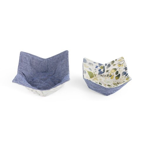 Spring Leaves Microwavable Bowl Pot Holder- Set of 2