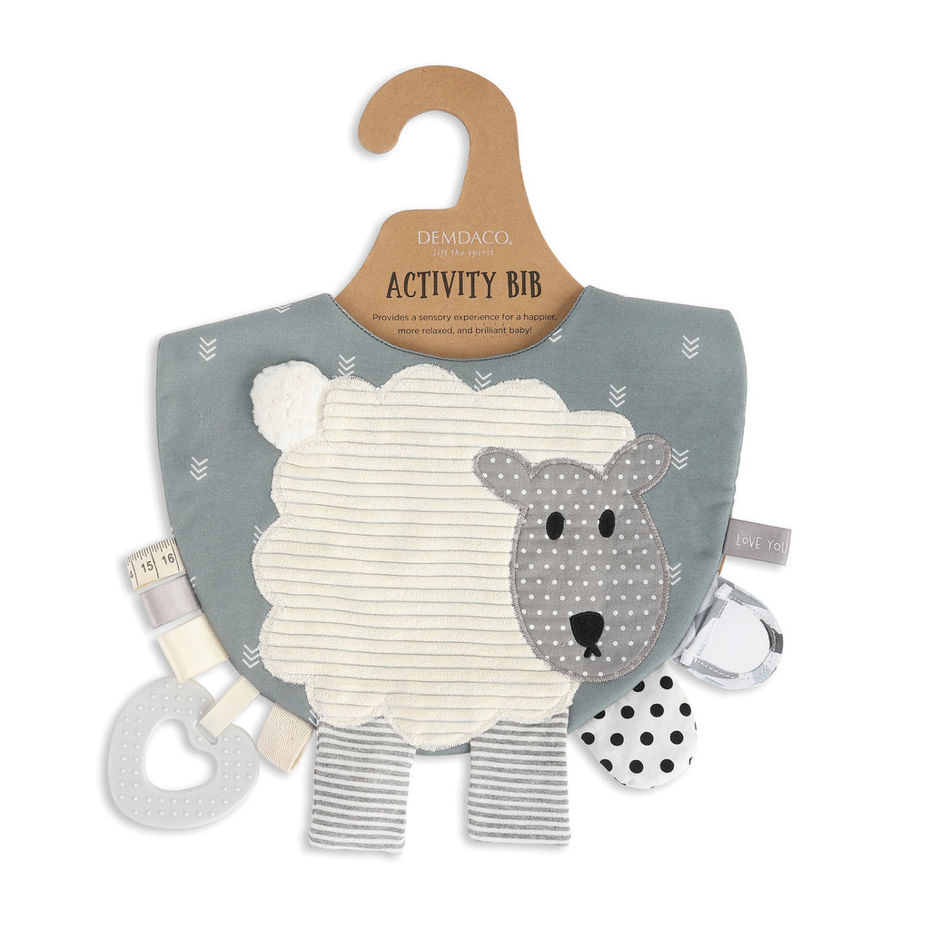 Mommy & Me Activity Bib - Lamb