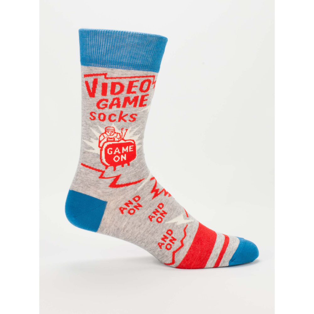 VIDEO GAME MENS CREW SOCKS