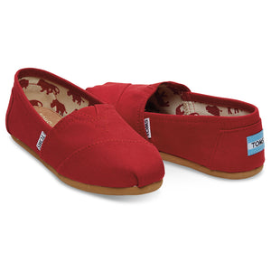 WOMENS CANVAS SLIPON RED