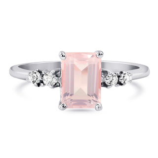 Rose Quartz Ring - Grazia