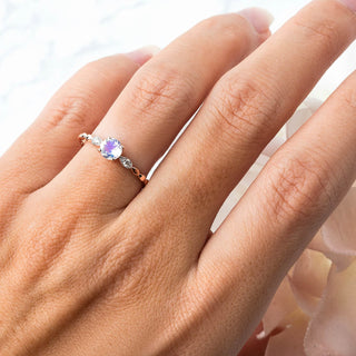Moonstone Diamond Ring - Tangled Up