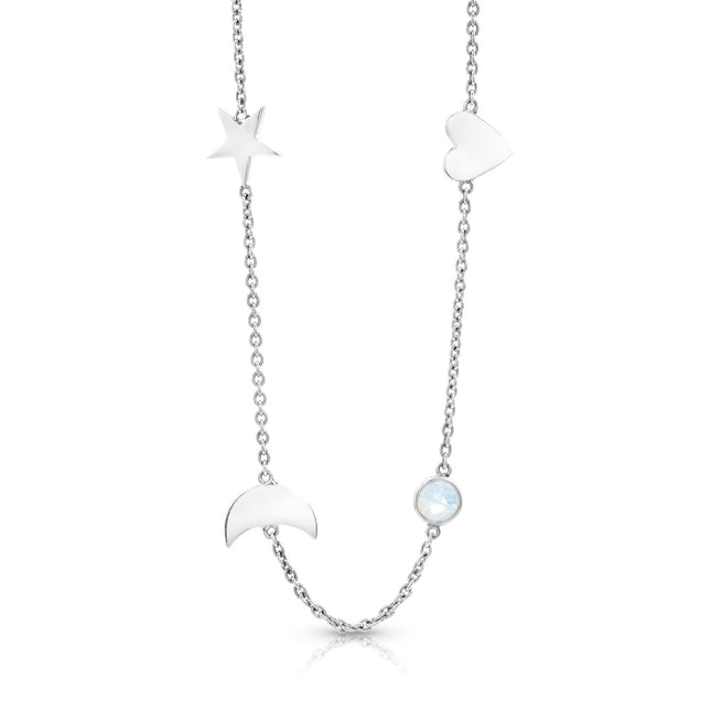 Moonstone Choker Necklace - To the Moon & back