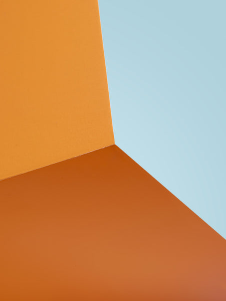 Plywood in Orange and Blue