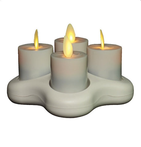 "1.6"" Rechargeable Votive 4PK"