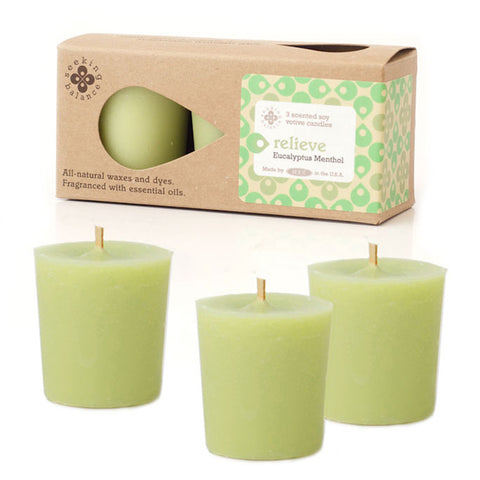 Seeking Balance 3 Pack Votive Eucalyptus Menthol - Relieve