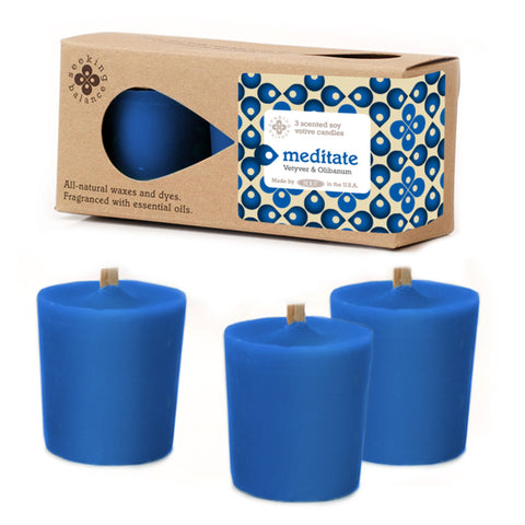 Seeking Balance 3 Pack Votive Vetyver & Oilbanum - Meditate