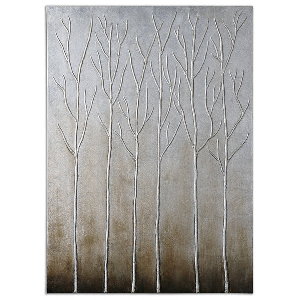 "36"" x 50"" Picture Sterling Trees"