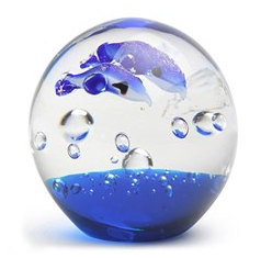 Aqua Dolphins Small Paperweight