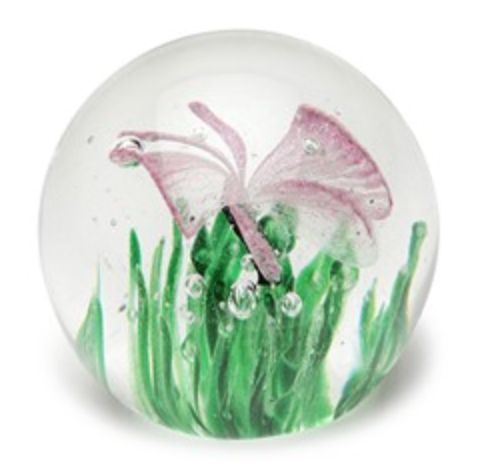 Butterfly Pink Glow Small Paperweight