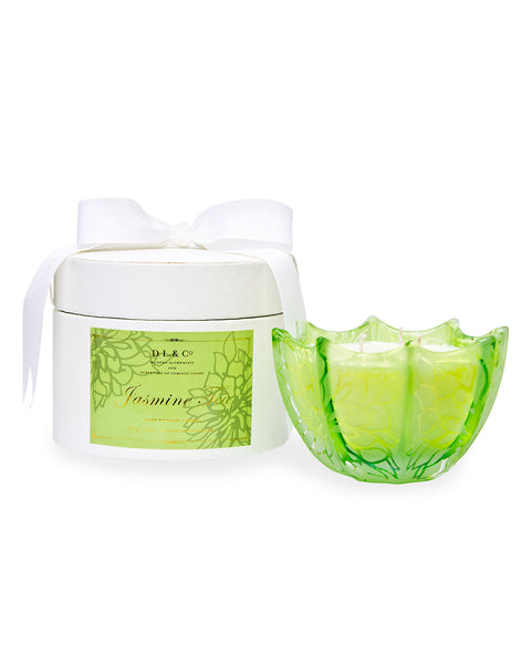 Jasmine Tea Etched Scallop Candle