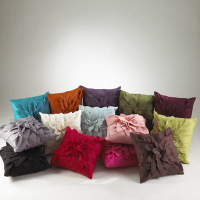 Fuchsia Square Flower Pillow