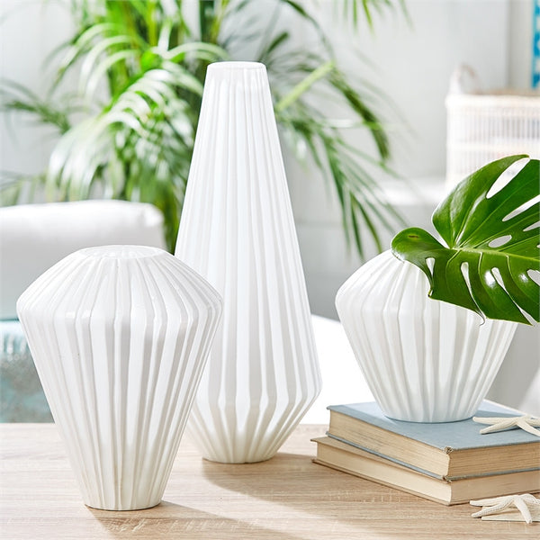White Frosted Vase