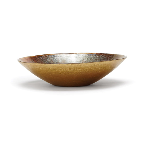 Earth Glass Serving Bowl