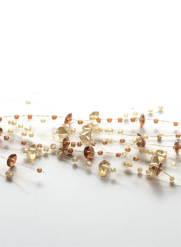 5' Bead - Amber Brown Garland