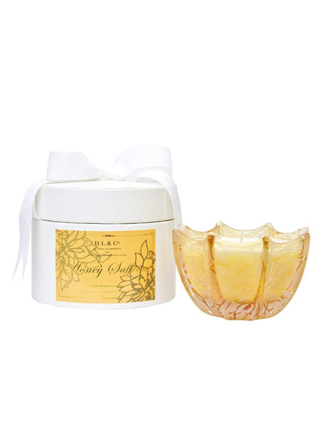 Honey Saffron Etched Scallop Candle
