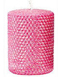 Metallic Pillar Hot Pink